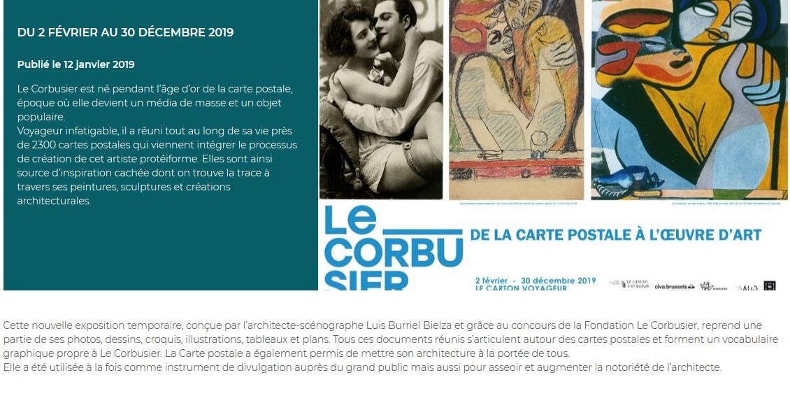 LE CORBUSIER, DE LA CARTE POSTALE À L'ŒUVRE D'ART